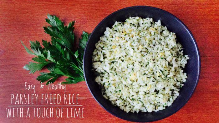 Parsley Fried Rice Recipe