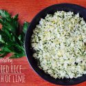 Parsley Fried Rice With Lime