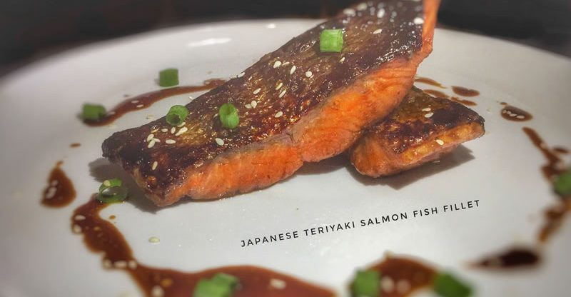 Japanese Teriyaki Salmon Fish Fillet