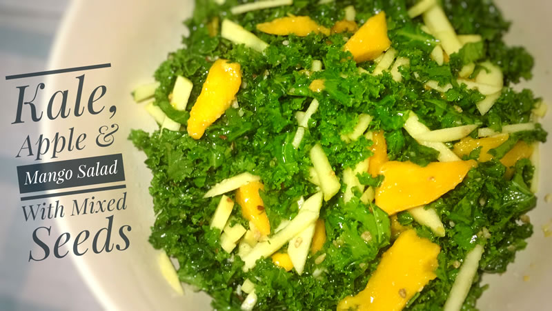 Kale, Apple & Mango Salad With Mixed Seeds