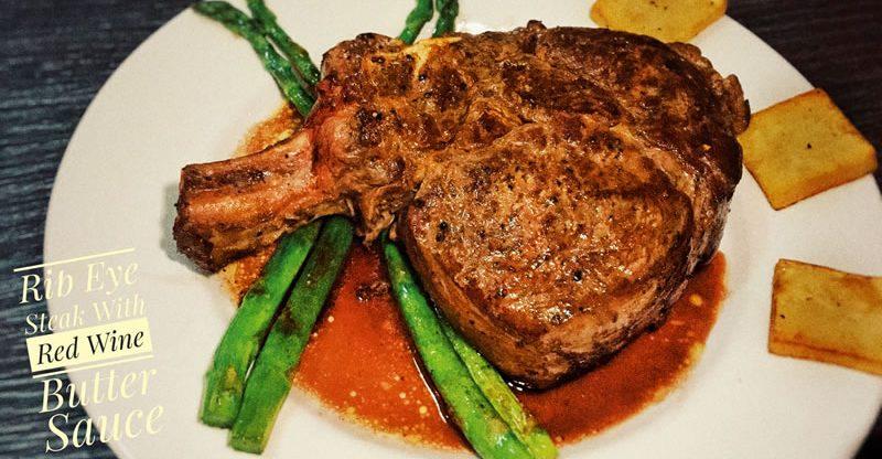 Rib Eye Steak With Red Wine Sauce