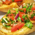 Tomato Parsley Bruschetta