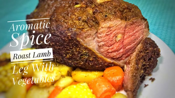 Aromatic Spice Roasted Lamb Leg